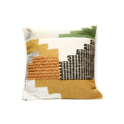 Square Wool  Kilim Pattern Throw Pillow