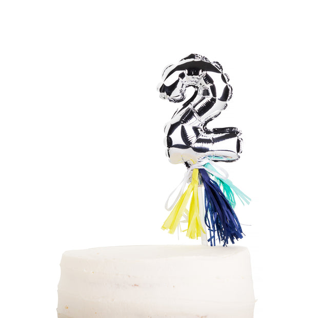 Cake Topper Set - Mini Number Balloon Set