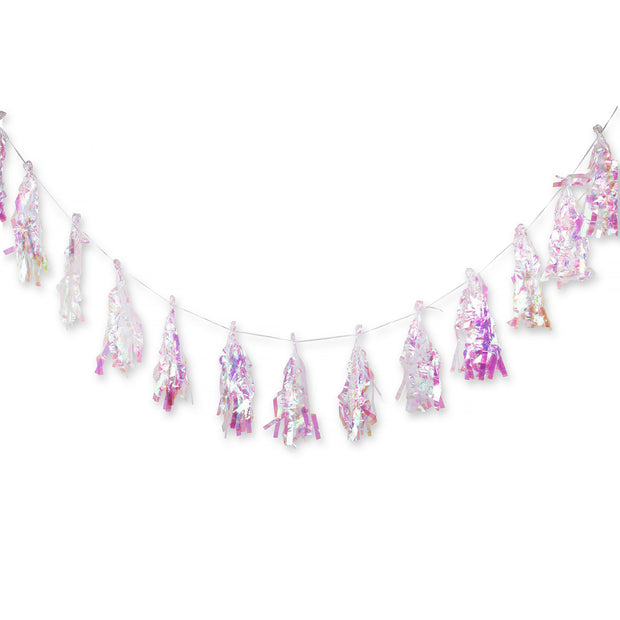 Party Garland - Rainbow Iridescent Tassel Garland