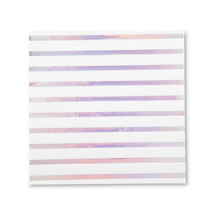 Party Napkin - Iridescent Stripe