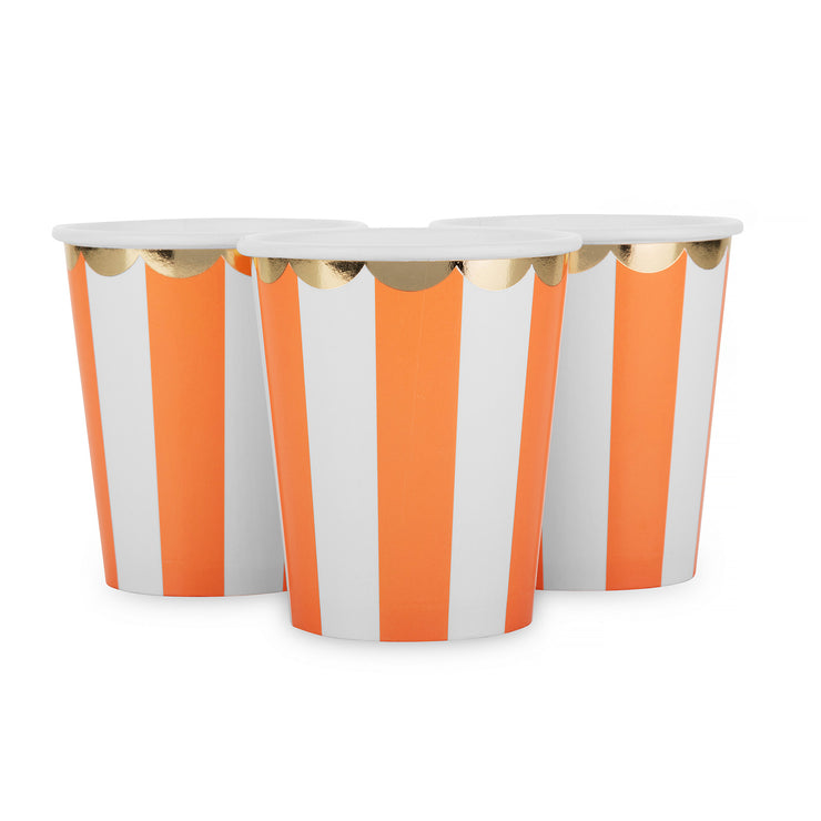 Party Paper Cup - Coral Stripe