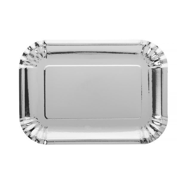 Party Plate - Silver - rectangle