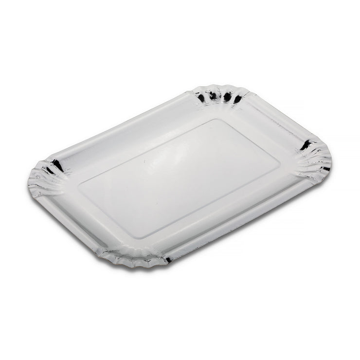 Party Plate - Silver - 7.5''x10.5''