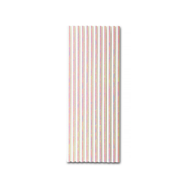 Party Paper Straw Iridescent