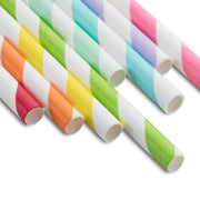 Party Paper Straw Multi-Color Stripe