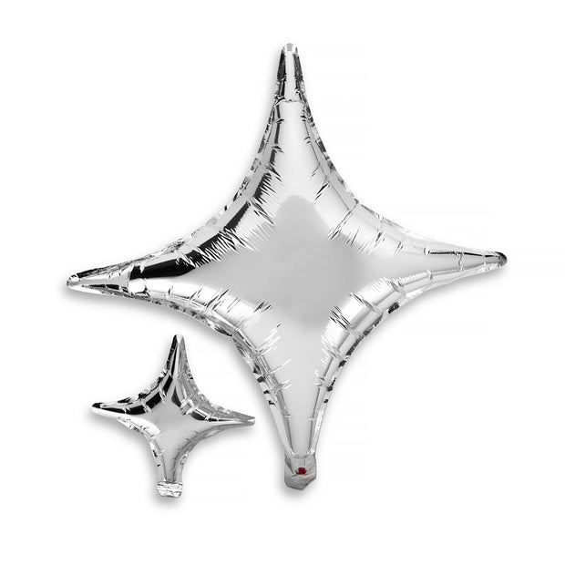Party Balloon - Silver Star Mylar Set