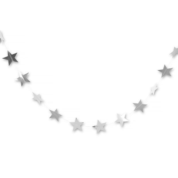 Party Garland - Silver Star Garland