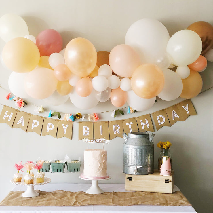 Party Balloon Garland - Blush Blooms - DIY Kit