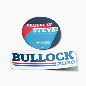 Believe in Steve Bumper Sticker Set