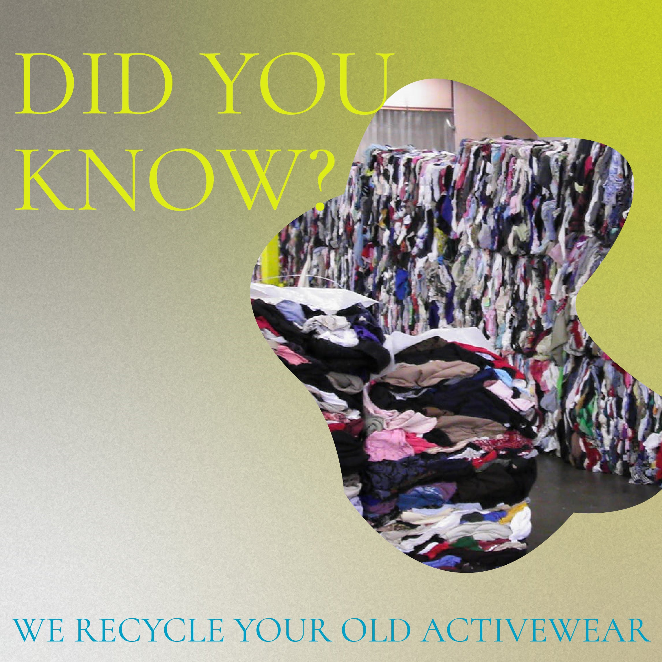 recycle your activewear