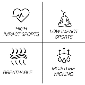 high impact sports low impact sports breathable moisture wicking