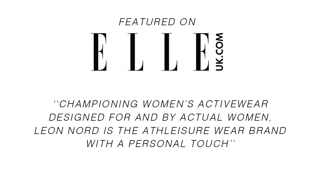 Leon Nord Championing women's activewear designed for and by actual women, Leon Nord is the athleisure wear brand with a personal touch. Designed in small batches to avoid over-production and quality checked by hand, not to mention developing workout wear made from recycled plastic bottles, Leon Nord cares for the environment as well as its customers. Stock up on the ribbed leggings in military green and square necked Vega crop top for an understated update to your tired old workout gear or give your at-home exercising an injection of fun with the leopard print cycling shorts.