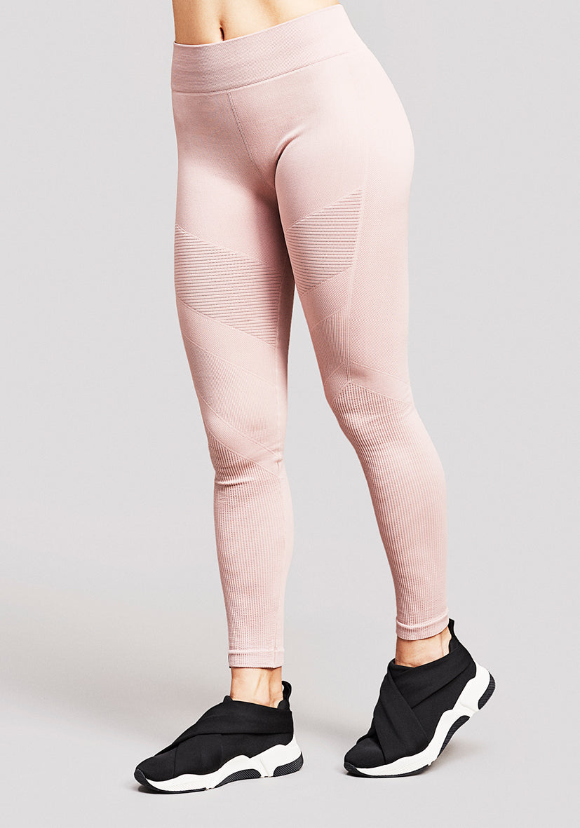 Antares Moto Seamless leggings in Dusty Rose