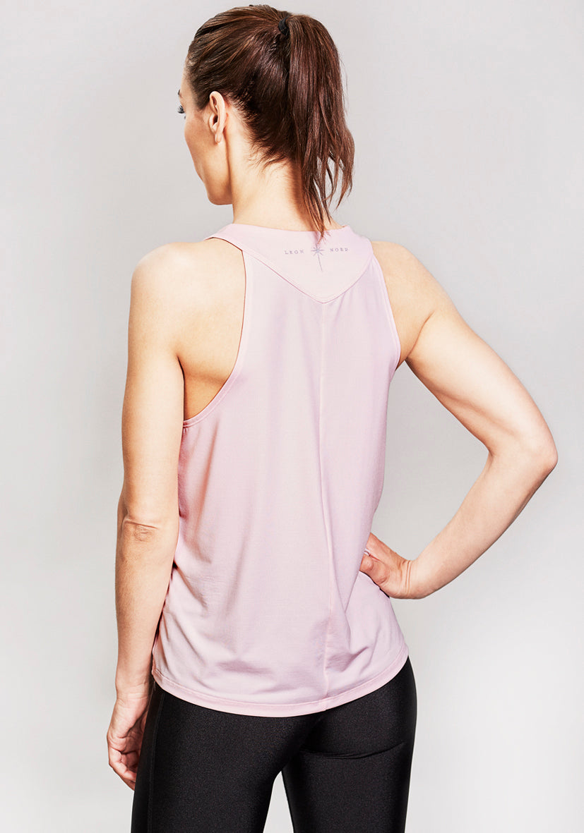The Mizar Top - Chalk Pink is the ultimate LEON NORD activewear staple and a key piece in any superwomen's athleisure wardrobe