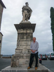 The Statue of Giuseppe Garibaldi in Todi