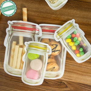 Storage Zipper Food Snack Stand Up Bag Pouches Zip Lock Zipper Bag Food Grade Plastic Storage Bags Smell Proof Clip With Window