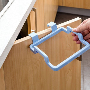 1Pc Rubbish Bag Holder Storage Garbage Square Hanging On The Cupboard Cabinet Storage Portable Save Space For Kitchen And Room