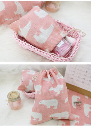 Portable Flamingos Drawstring Storage Bags Travel Clothing Shoe Underwear Beam Pouch Sundries Organization Tea Gift Bags