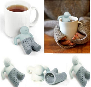 Leaf Tea for Brewing Mr little man tea strainer Silicone Tea bags tea making device 1pc/lot B023-1