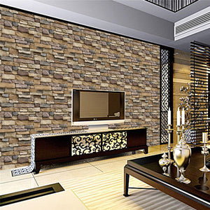 45x100cm Self Adhesive Wallpaper PVC Waterproof Stone Wallpapers Brick Wall Paper Decorative Wall Stickers Bedroom Home Decor