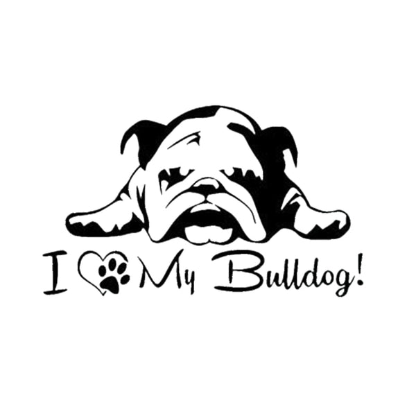 Small Decal Collection I Love My Bulldog