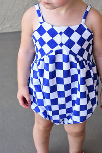 Permanent Preorder - Squares (Checkerboard) - White/Blue - RP Color