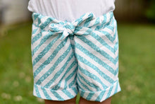 "Load image into Gallery viewer, Permanent Preorder - 1/2"" Glitter Stripes Diagonal - White/Aqua"