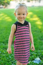 "Load image into Gallery viewer, Permanent Preorder - 1/2"" Glitter Stripes - Black/Dark Pink"