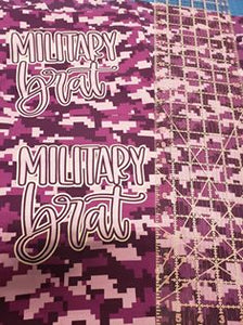 Retail CL Pack - FH Military Child Purple Camo, 2 Military Brat BK Panels