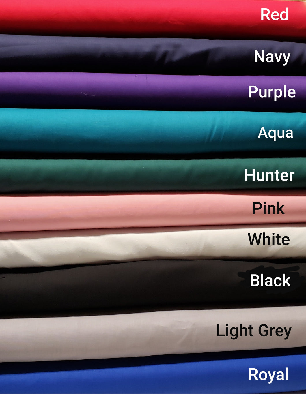 100% Cotton Solids