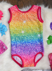 Permanent Preorder - Starry Glitters - Rainbow Bright Stripe Ombre