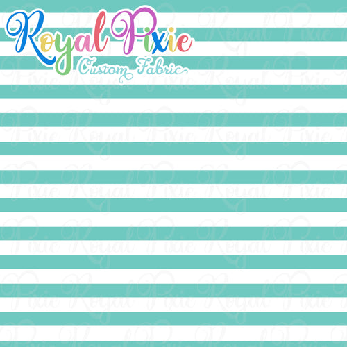 Permanent Preorder - Stripes with White - Aqua - RP Color