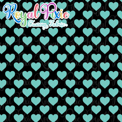 Permanent Preorder - Hearts with Black - Aqua - RP Color