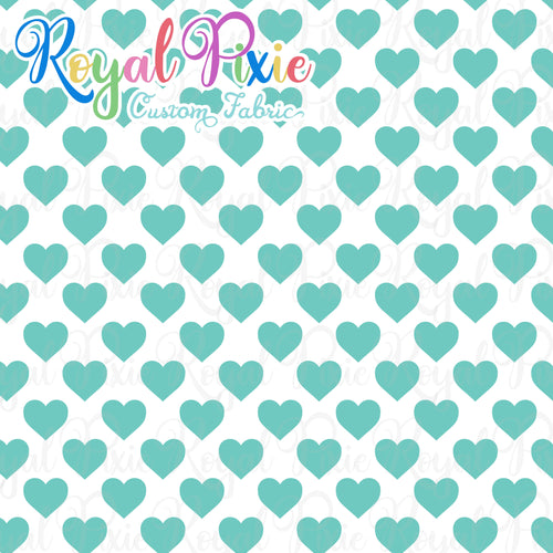 Permanent Preorder - Hearts with White - Aqua - RP Color