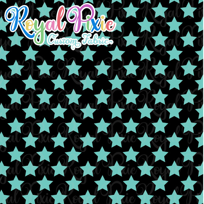 Permanent Preorder - Stars with Black - Aqua - RP Color