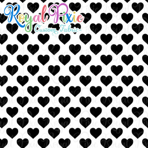 Permanent Preorder - Hearts with White - Black - RP Color