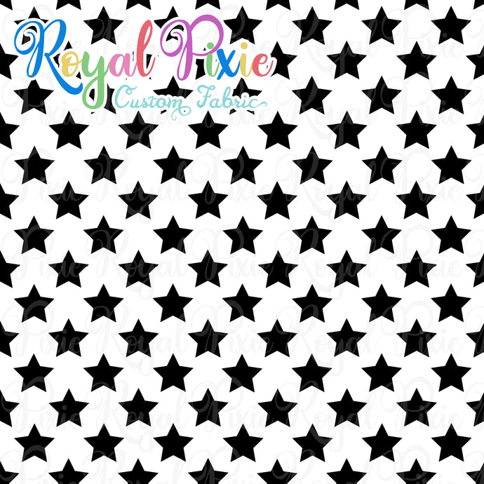 Permanent Preorder - Stars on White - Black - RP Color