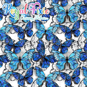 Retail Blue Butterflies Cotton Lycra