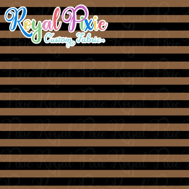 Permanent Preorder - Stripes with Black - Brown - RP Color