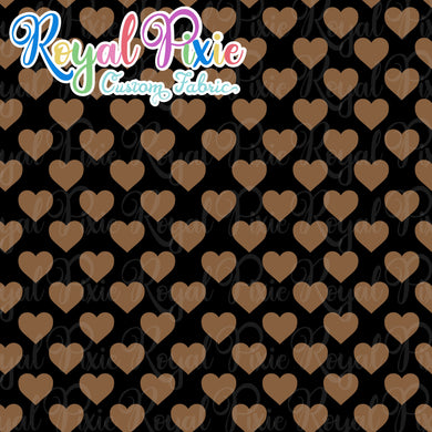 Permanent Preorder - Hearts with Black - Brown - RP Color