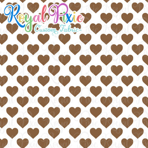 Permanent Preorder - Hearts with White - Brown - RP Color