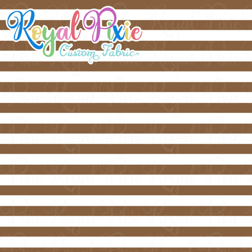 Permanent Preorder - Stripes with White - Brown - RP Color