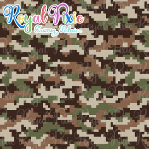 Permanent Preorder - Coords - Camouflage - Squares Brown & Green