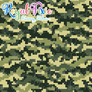 Permanent Preorder - Coords - Camouflage - Squares Greens