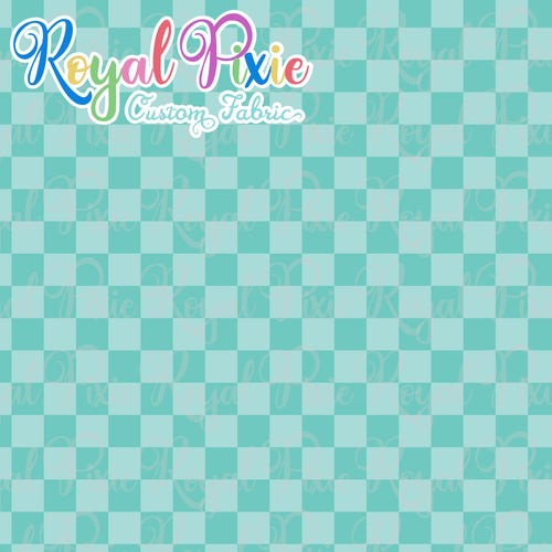 Permanent Preorder - Squares (Checkerboard) - Monochrome Aqua - RP Color