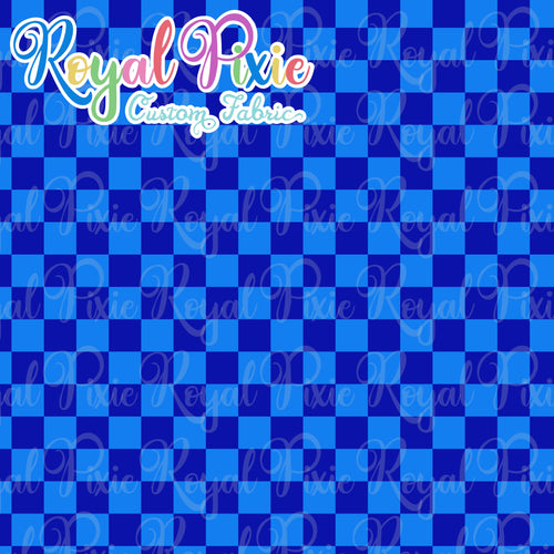 Permanent Preorder - Squares (Checkerboard) - Monochrome Blue - RP Color