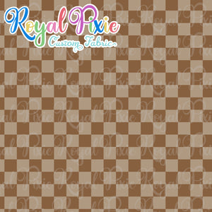 Permanent Preorder - Squares (Checkerboard) - Monochrome Brown - RP Color