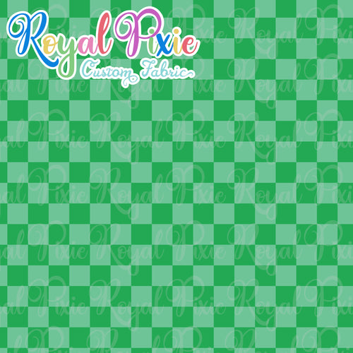 Permanent Preorder - Squares (Checkerboard) - Monochrome Green - RP Color