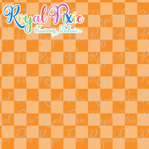 Permanent Preorder - Squares (Checkerboard) - Monochrome Orange - RP Color