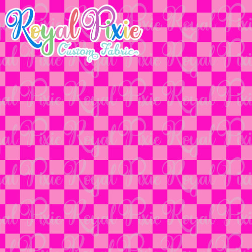Permanent Preorder - Squares (Checkerboard) - Monochrome Pink - RP Color